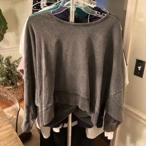 Gray Lovestich Open back Sweatshirt Vici S/M
